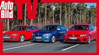 Download VW Golf R vs. Audi S3 vs. BMW M135i Video