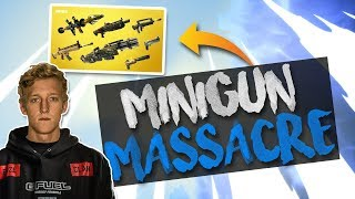 Download MINIGUN IS OP!!! 21 Kill Solo Gameplay - Solid Gold v2 (Fortnite Battle Royale) Video