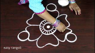 Download How to Draw Creative rangoli art designs without dots || freehand kolam designs Video