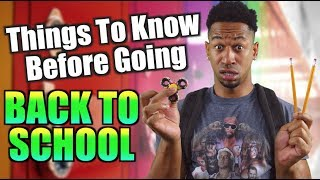 Download THINGS TO KNOW BEFORE GOING BACK TO SCHOOL! Video