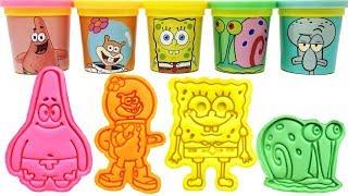 Download SpongeBob SquarePants Play-Doh Molds & Toys Spongebob Patrick Squidward Snail Sandy Video