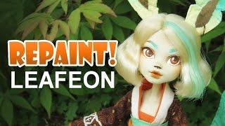 Download Repaint! Leafeon Pokemon Eeveelution custom OOAK Doll Video