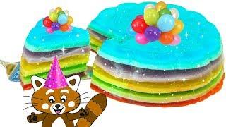 Download Pukkins gör en rolig slime tårta i regnbågens färger Video
