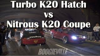 Download Hiboost Turbo K20 Hatch vs Alante Nitrous K20 Coupe Video