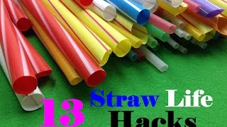 Download 13 Life Hacks with Drinking Straw Video