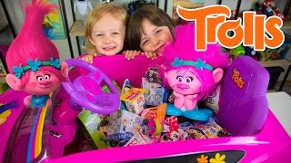 Download HUGE Trolls Movie Surprise Car Toy Surprise Eggs Girl Toys Slime Baff Dreamworks Kinder Playtime Video