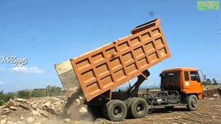 Download Dump Truck Mitsubishi Fuso 220PS Unloading Rocks Video