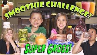 Download SMOOTHIE CHALLENGE! Super Gross Smoothies - GOTTA DRINK IT ALL! Video