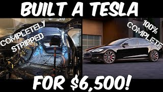 Download This Guy Built a Tesla Model S from Parts! Here's how he did it... Video