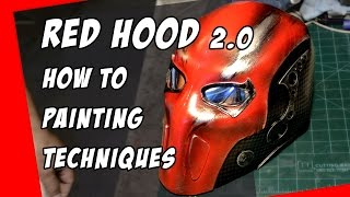 Download Red Hood mask 2.0 How To Helmet Cosplay Painting Techniques Video