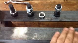 Download Torno para madeira artesanal - Detalhes da montagem antes da solda Video