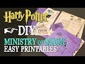 Download DIY Ministry of Magic Documents and Folder - Easy Printables Video