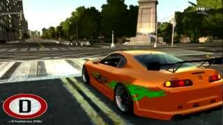 Download GTA 4 Fast and Furious 1000HP Toyota Supra Sound + PaintJob Mods GamePlay Video