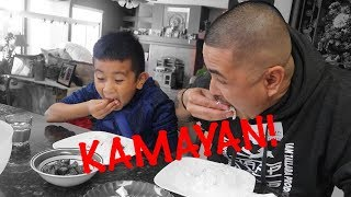 Download TEACHING CJ HOW TO EAT WITH HIS HANDS | KAMAYAN NA Video
