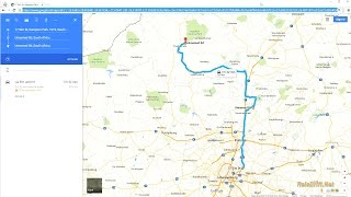 Download Use Google Maps on pc to make Car Navigation Route Video