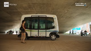 Download Self-driving buses hit the road in Helsinki Video