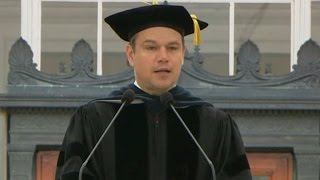 Download Matt Damon's full commencement address at MIT Video