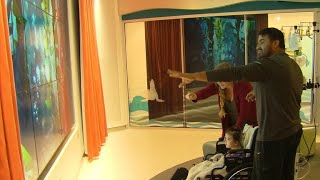 Download Children's Hospital at Stanford distracts and comforts young patients Video