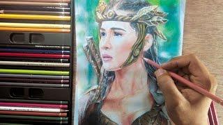 Download Colored Pencil Drawing Danaya Sanya Lopez Video