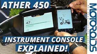 Download Ather 450 Electric Scooter's Instrument Console and Cool Features Fully Explained Video