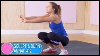 Download Full Body Sculpt & Burn AMRAP Workout #12: Ciara- 10 Mins Video
