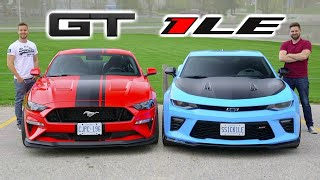 Download 2019 Mustang GT PP2 vs Camaro SS 1LE // Battle Of The Track Packs Video