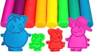 Download Peppa Pig Family & Friends Play Doh Molds Learn Colors Painting Peppa Surprise Toys Compilation Video