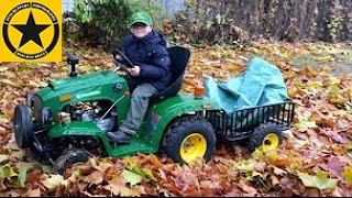 Download CHILDREN Tractor JOHN DEERE ✅ on DUTY Autumn Works by Jack (5) Video