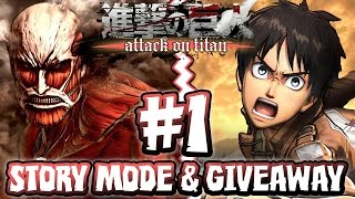 Download Attack on Titan PS4 - Part 1 - Story Mode FIRST HOUR & GIVEAWAY Video