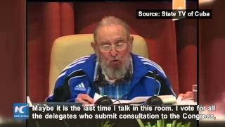 Download Fidel Castro heats up ending session of Cuba's communist congress Video