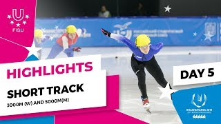 Download Highlights day 5 I Short Track Relay 3000m Women and 5000m Men | Winter Universiade 2019 Video