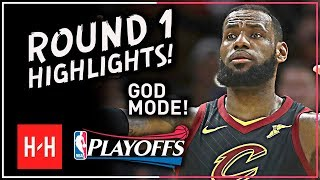 Download GOD MODE! LeBron James Full ROUND 1 Highlights vs Indiana Pacers | All GAMES - 2018 Playoffs Video