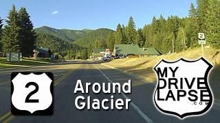 Download US 2 around Glacier National Park : West Glacier to East Glacier Video