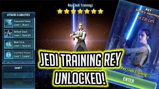 Download Jedi Training Rey Unlocked! - Rey's Hero's Journey Gameplay | Star Wars: Galaxy of Heroes Video