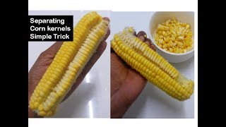Download How to remove corn kernels in 1 minute | Simple trick |Deeps Kitchen Video