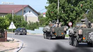 Download The Cavalry March - american armored vehicles travel from M. K. across Romania Video