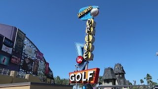 Download Playing Mini Golf At Universal Orlando CityWalk | Hollywood Drive In Mini Golf Video