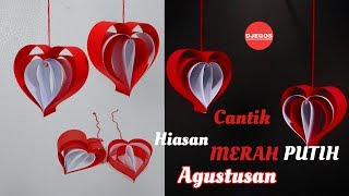 Download Mudah Banget HIASAN MERAH PUTIH 17 AGUSTUS dari KERTAS Video