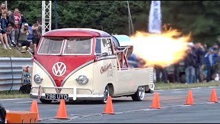 Download Oklahoma Willy Jet Bus - 132mph 1/4 mile run at EBI 7 Video