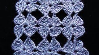 Download Crochet : Flor de 4 Petalos. Parte 1 de 2 Video