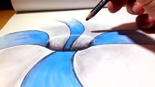 Download Comment dessiner une Illusion d'optique - Trou [Tutoriel] Video