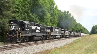 Download NS CSX and Amtrak Trains on the Norfolk Southern Piedmont Division Video