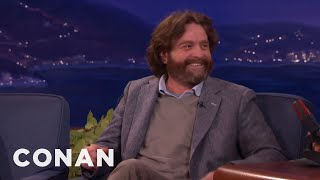 Download Zach Galifianakis' Question He Refused To Ask President Obama - CONAN on TBS Video