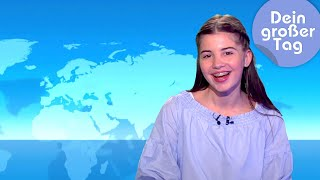 Download Tagesschau und Logo! - Kiara moderiert Nachrichten | Dein großer Tag | SWR Kindernetz Video