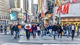 Download NEW YORK CITY 2018: LET'S WALK AROUND THE SUNNY MANHATTAN! [4K] Video