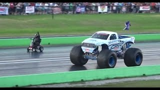 Download FARM TRUCK NITROUS SCOOTER VS MONSTER TRUCK ( STREET OUTLAWS ) Video