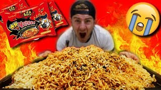 Download SPICY KOREAN FIRE NOODLE MOUNTAIN! (SPICE LEVEL 8,000+) Video