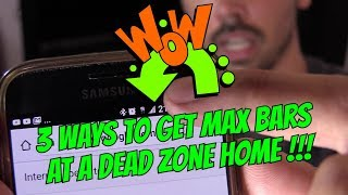 Download 3 FREE WAYS TO BOOST CELL PHONE SIGNAL AT DEAD ZONE HOME Video