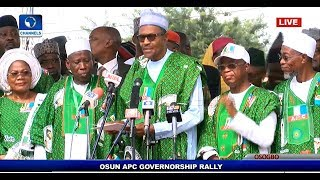 Download 'Osun Must Remain APC' Buhari Presents Party Flag To Gboyega Oyetola Pt.1  Live Event  Video