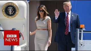 Download US President Donald Trump arrives in the UK - BBC News Video
